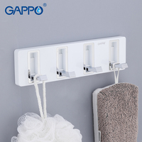 GAPPO Robe Hooks brass and ABS bathroom hooks Bath Hardware Sets Living room Wall Mount Accessories holder hangers