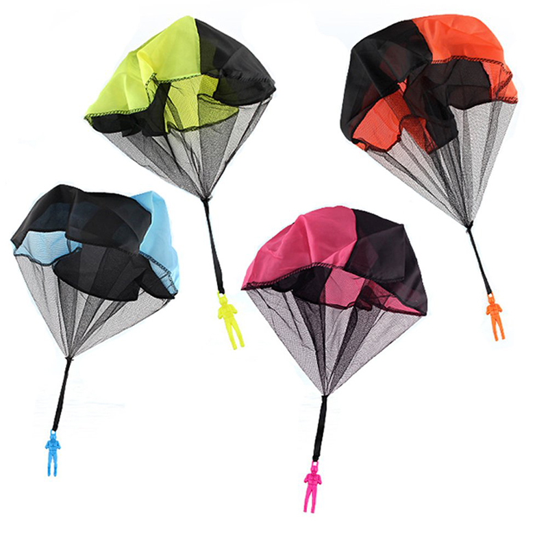 Parachute Soldier Toy Outdoor Sports Fun Children Hand Throwing Kids Mini Play Parachute Toy Soldier Outdoor Sports