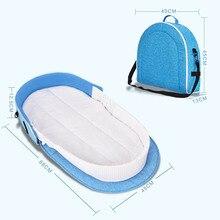 Portable Baby Crib Multi-function Lit Enfants Travel Bed Cradle Cot Detachable Baby Travel Bed One Shoulder Mummy Bag все цены