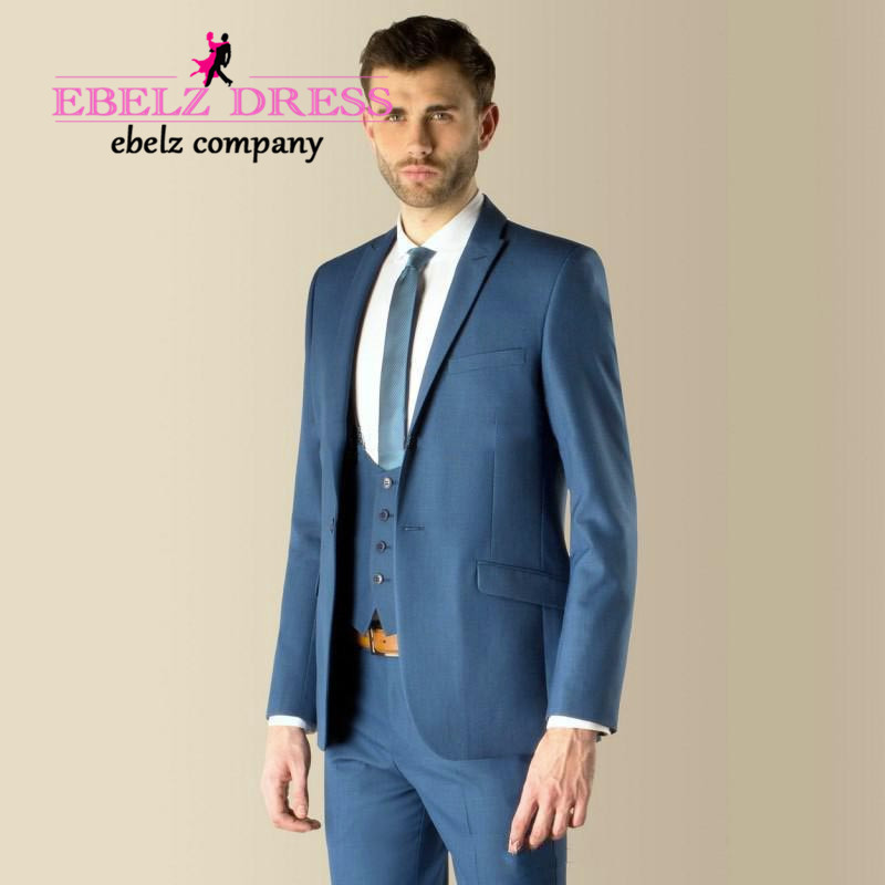 Aliexpress.com : Buy 2015 Custom Made Royal Blue Groom Slim fit