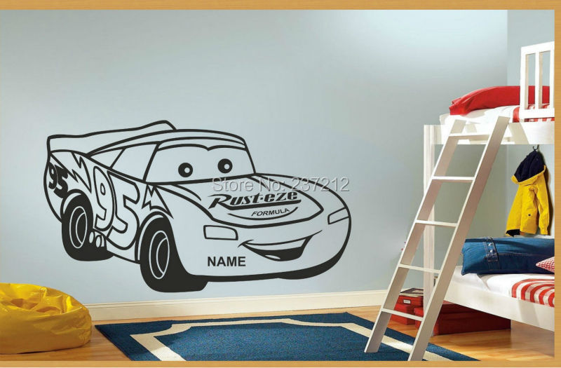 Removable Cars Vinyl Wall Sticker Decal Mural Personalised Wall Sticker Kids Bedroom Decor Free Shipping