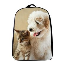 Hot Sale 12 Inches Oxford Printing Dog Animal Cat Kids Baby School Bags Kindergarten Small Backpack Mini Children Schoolbag Gift(China)