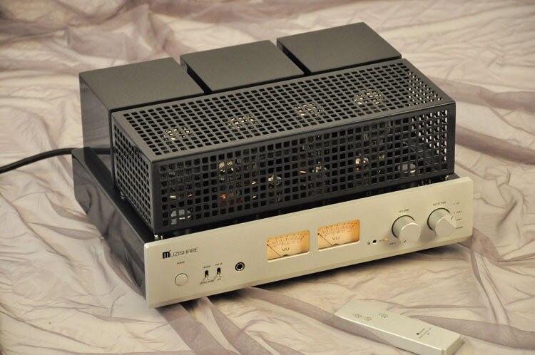 Dernier MUZISHARE X7 push-pull stéréo KT88 Tube de Valve amplificateur intégré préampli Phono 45W * 2 ampli de puissance