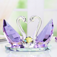 Crystal Glass Swan Diamond Ornaments Wedding Birthday Gifts Fengshui Crafts Home Furnishing Paperweight Souvenirs Figurines