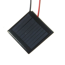 BUHESHUI 0.25W 5V Solar Cell Polycrystalline Solar Panel Module With Wire/Cable DIY Solar Charger For 3.6V Battery Epoxy 50*50MM