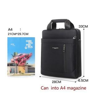 Image 5 - Mens Vertical Briefcase Men Waterproof Computer Messenger Bag Male Oxford Cloth Shoulder Bag Travel For IPAD Handbag Sac Homme