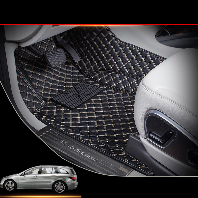 lsrtw2017 custom leather car floor mat for mercedes benz r-class r 280 r 300 r 320 r 350 r 63 2006-2018 2017 <font><b>2016</b></font> 2015 w251 image