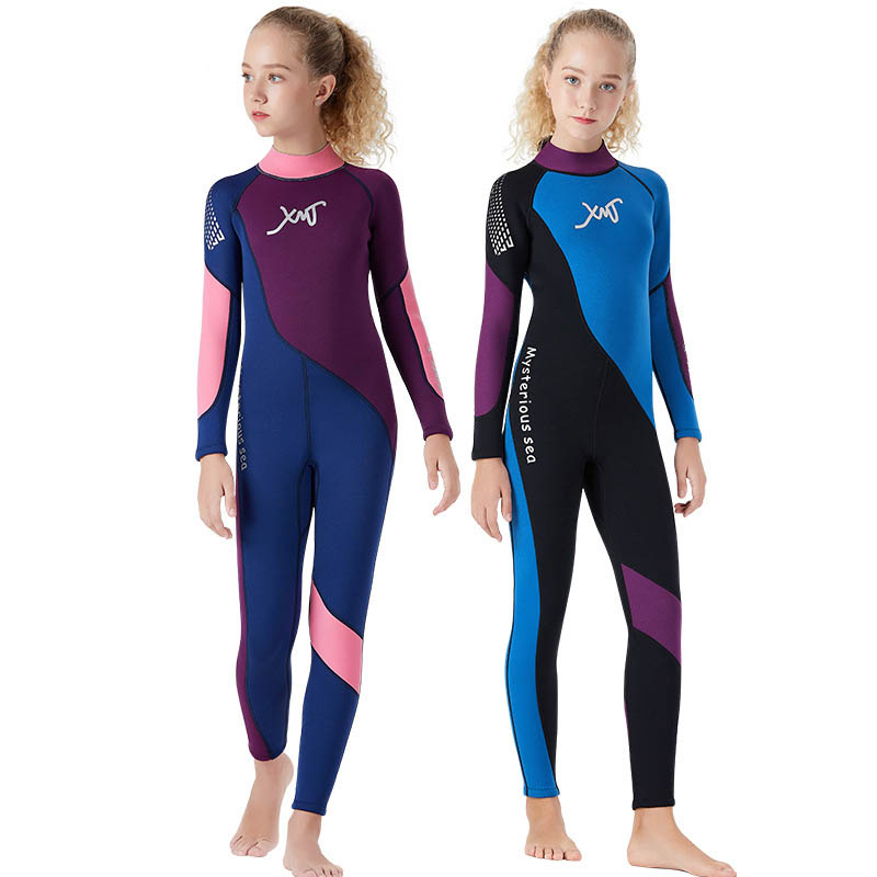 Girls wetsuit one-piece swimsuit diving suit snorkeling surfing swimwear 2.5MM neoprene Cold-proof warm wetsuitsuit jellyfishGirls wetsuit one-piece swimsuit diving suit snorkeling surfing swimwear 2.5MM neoprene Cold-proof warm wetsuitsuit jellyfish