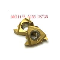 חוט mmt11er ag55 vp15tf חיצוני חוט הפיכת כלי 20PCS MMT11ER AG55 VP15TF / UE6020 / US735 כלי קרביד 55 (3)