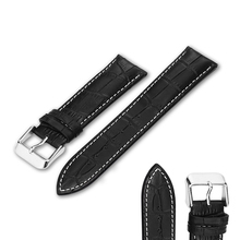 Genuine Leather Watch Strap Band 20mm 22mm 24mm Watchband For Women Men Belt On Wristband Watch Accessories Bracelet Buckle Gold недорого