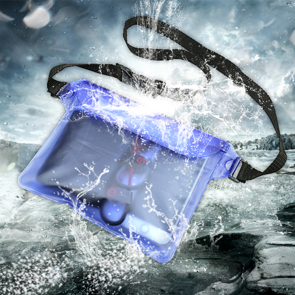 HITORHIKE Durable Waterproof Pouch Phone Bag Money Case With Waist Strap For Beach Swimming Boating Drifting Diving Rowing Boat