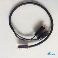 IWISTAO to3.5mm Żeński Wtyk RCA Kabel Audio dla DAC i Wyjście Przedwzmacniacza Podłączyć Słuchawki Budweiser 4N OFC RCA terminalu Bezpłatne wysyłka