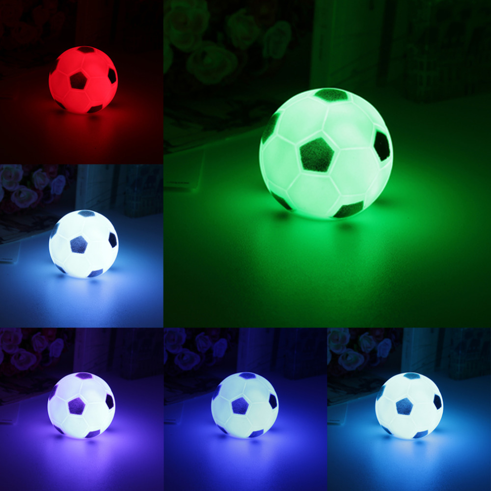 Colorful Changing Football LED Night Light Mood Party Christmas Home Decoration Nightlight Lamp Great Gift For Kids Top Quality