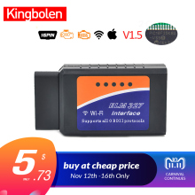 ELM327 OBD2 Bluetooth/WIFI V1.5 Car Diagnostic Tool ELM 327 OBD II Scanner Chip PIC18F25K80 Work Android/IOS/Windows 12V Diesel(China)