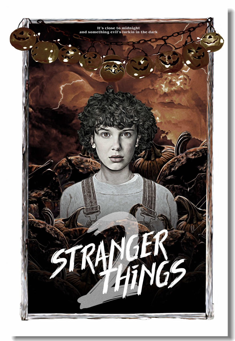 Us 5 19 35 offcustom canvas wall mural stranger things poster stranger things wallpaper winona ryder wall sticker cafe bar decorations 0238 in
