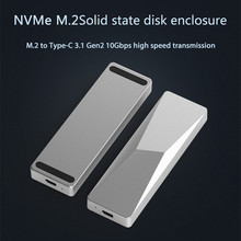 Portable SSD Enclosure Support  M.2 ssd hard disk cases type c 3.1 gen2 10Gbps high speed transmission hard drive enclosure