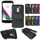shockproof anti-shock Heavy Duty Dual Layer Holster Case Kick Stand for LG K10 / LG Premier LTE