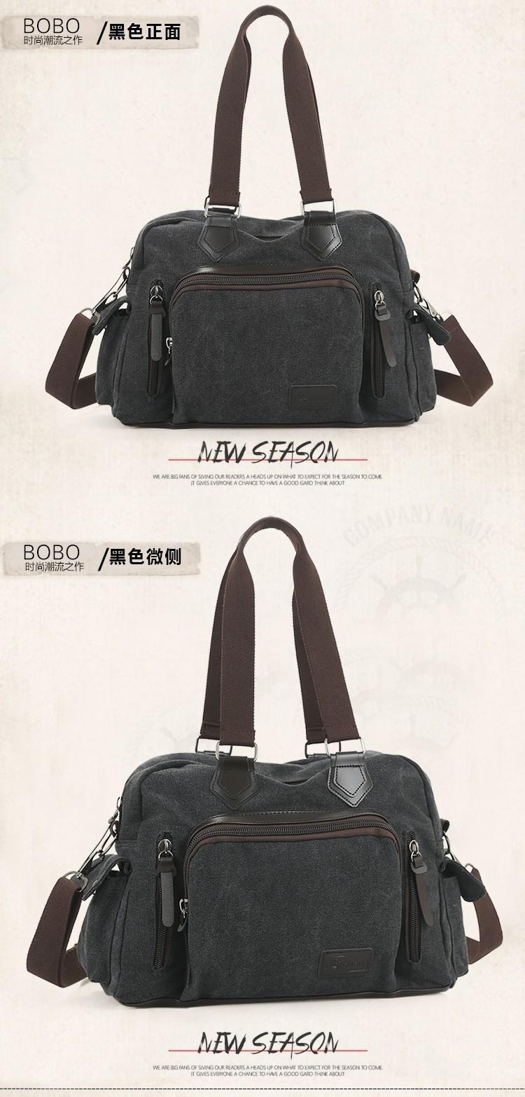 2016 men\'s travel bag canvas men messenger bag brand men\'s bag vintage style briefcase,Travel Shoulder bag (18)