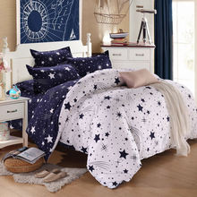 3D Bedding Sets Star Galxy Duvet Cover Blue White Grey 3/4pc Bed sheets Single Twin Full Queen Size Kid or Boys geometric linens