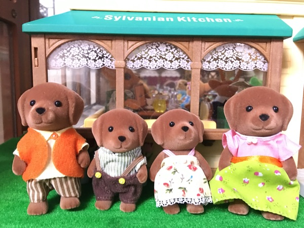 brown dog family without original box Sylvanian Family mini size action Figures Anime Cartoon figures Toys Child Toys gift 6pcs set disney toys for kids birthday xmas gift cartoon action figures frozen anime fashion figures juguetes anime models