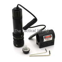 JG 4A Tactical Powerful 532nm 5mW Laser Scope Red Dot Sight Set With Bracket Tail Mount Switch for Hunting Rifle Pistol Shotgun