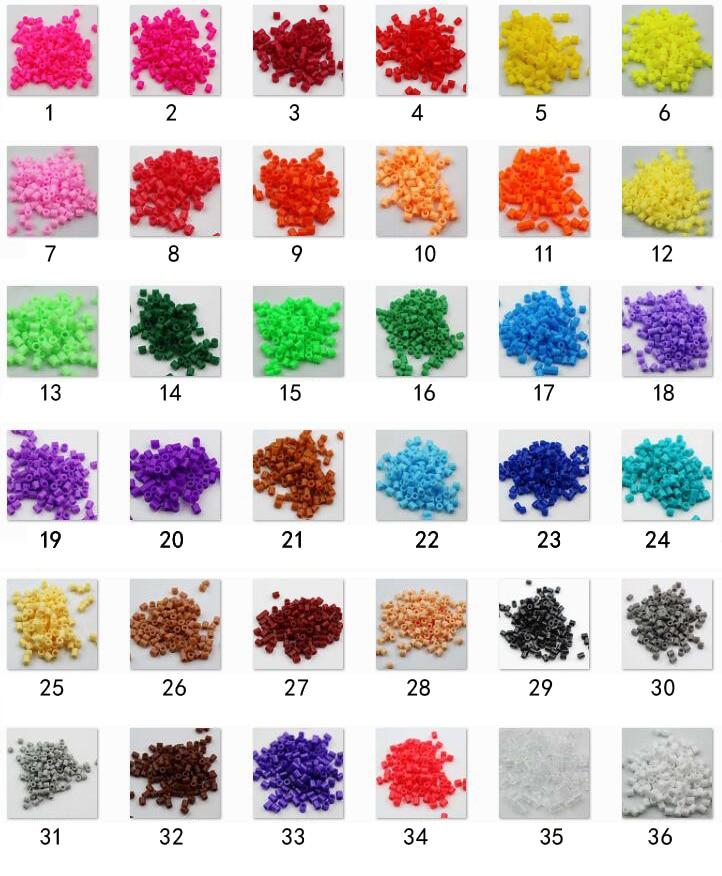 10000 pcs/lot 36 couleur peut choisir 5 MM haute qualité hama perles bricolage jouet de qualité alimentaire perler PUPUKOU fusible perles puzzles jouet