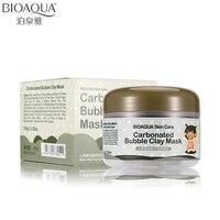 2016 BIOAQUA Brand Skin Care Little Black Pig Oxygen Bubbles Carbonate Mud Mask Whitening Hydrating Moisturizing