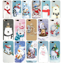 79WE Christmas polar bear Soft Silicone Tpu Cover phone Case for xiaomi redmi 4A 4X note 4 4x mi A1 A2 lite(China)