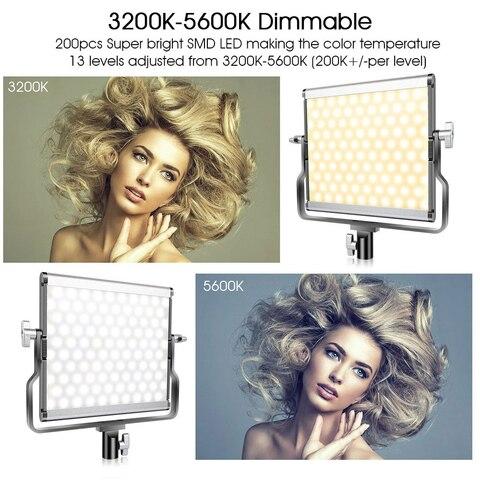 capsaver L4500 LED Video Light Kit Dimmable 3200K-5600K 15W CRI 95 Studio Photo Lamps Metal Panel with Tripod for Youtube Shoot Karachi