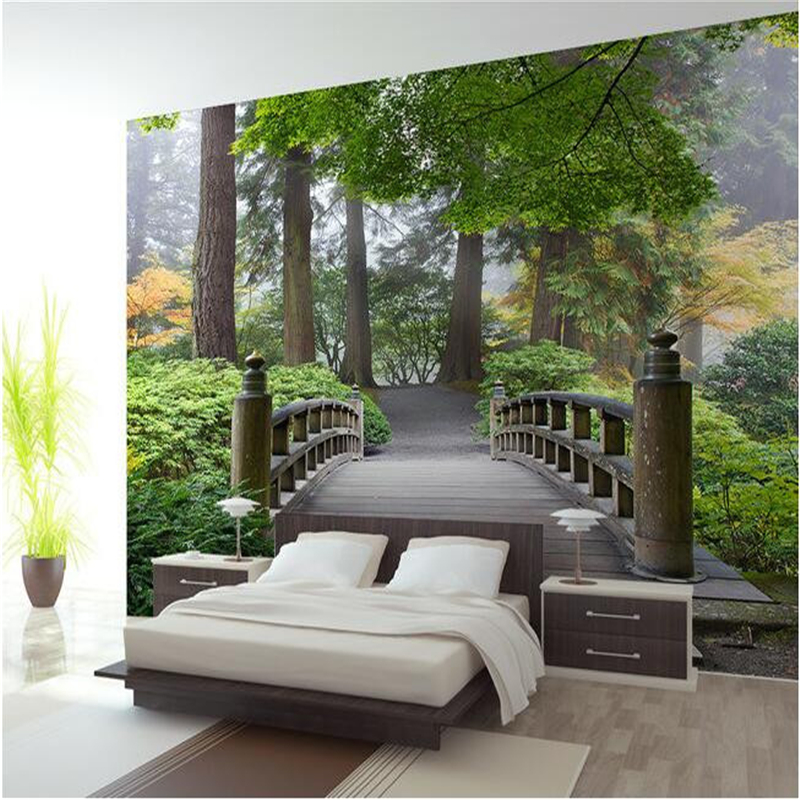 Beibehang Custom Mural Bridge Forest 3 D Landscape
