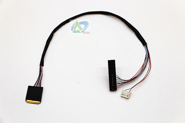 9.7 inch LCD screen line Generic driver board Cable  30pin solo 6 lvds cable LVDS 1ch, 6   bit