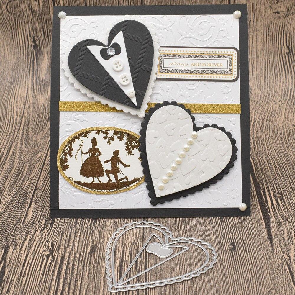 Wedding Cards Heart Metal Cutting Dies For Diy Scrapbooking Album Birthday Card Anniversary Day Gift Decoration Cutting Dies Aliexpress