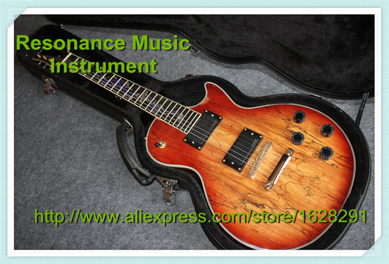Wholesale and Retail LP Custom Electric Guitar Splated Maple Finish Dragon Inlay Ebony Fretboard China LP Guitars With Hardcase china custom shop transparant grey finish lp electric guitars with mahogany solid body for sale