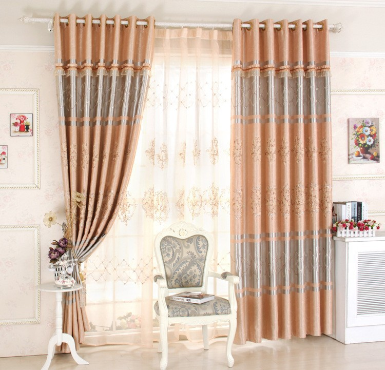 Nice Curtains aurora home mix match curtains moroccan room darkening and voile sheer 84 inch grommet 4 piece curtain panel pair by aurora home European Curtains For Living Room Nice Pattern Luxury Embroidered Window Curtains Treatmentdrapery Greybrown From Reliable Embroidered Window Curtains