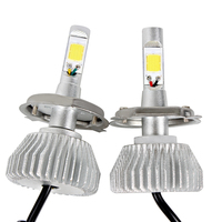 2pcs High Low Beam Car LED Headlight Headlamp All In One COB High Quality 4400LM 12V