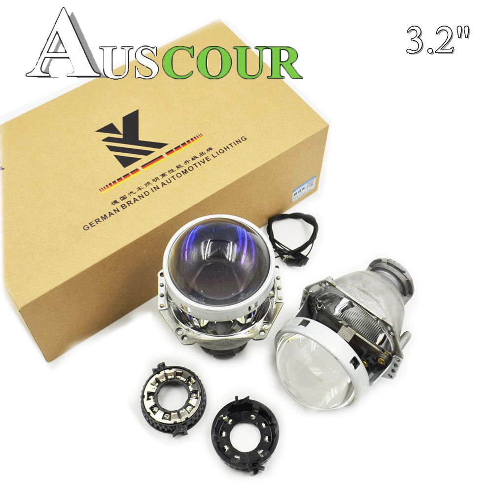 NEW VERSION HELLA 5 bixenon hid car projector lens with blue coating 3.2 inch car headlight metal holder D1S D2S D3S D4S Modify 3 0 inch hella 5 car bixenon hid projector lens metal holder for d1s d2s d3s d4s hid xenon kit headlight car assembly headlight
