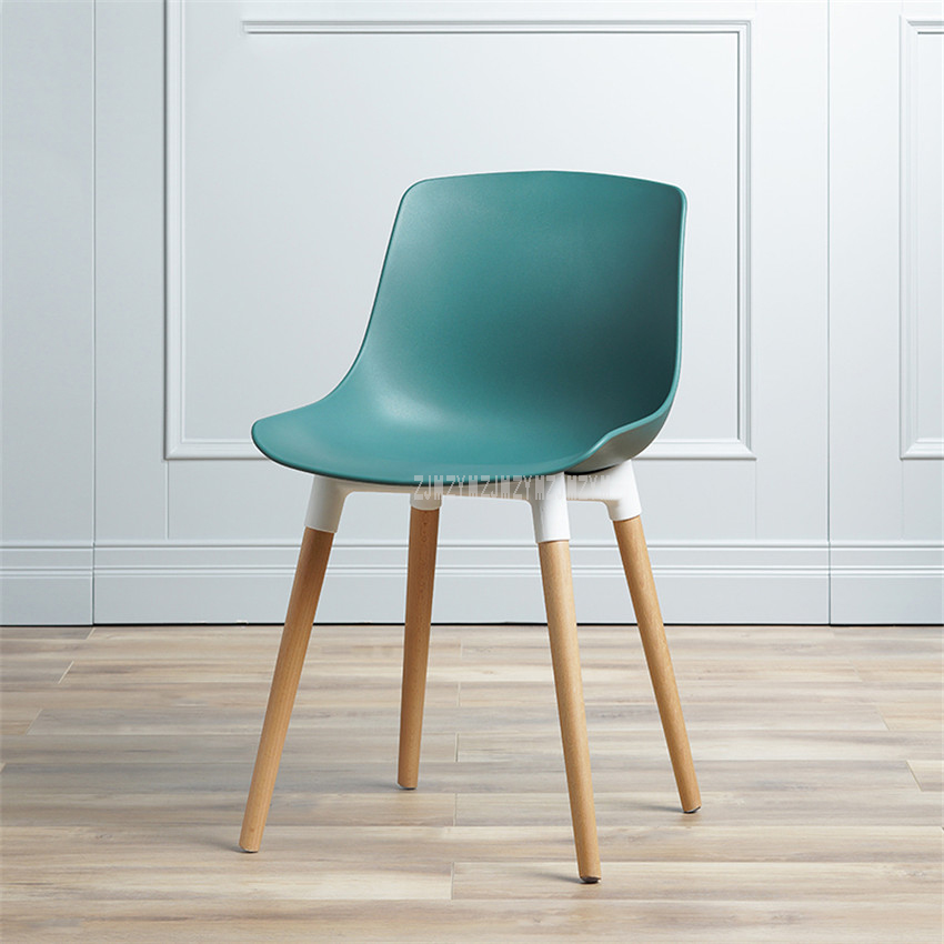 Modern Design Dining Chair With Solid Wood Wooden Beech Legs Leisure PP Plastic Chair For Reception Room/Home Living Room/Hotel
