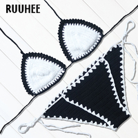 RUUHEE 2017 Hot Sexy Handmade Crochet Bikini Bathing Suit Top Bikinis Knitted Swimwear Women Brazilian Biquinis