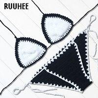 RUUHEE 2017 Hot Sexy Handmade Crochet Bikini Bathing Suit Top Bikinis Knitted Swimwear Women Brazilian Biquinis