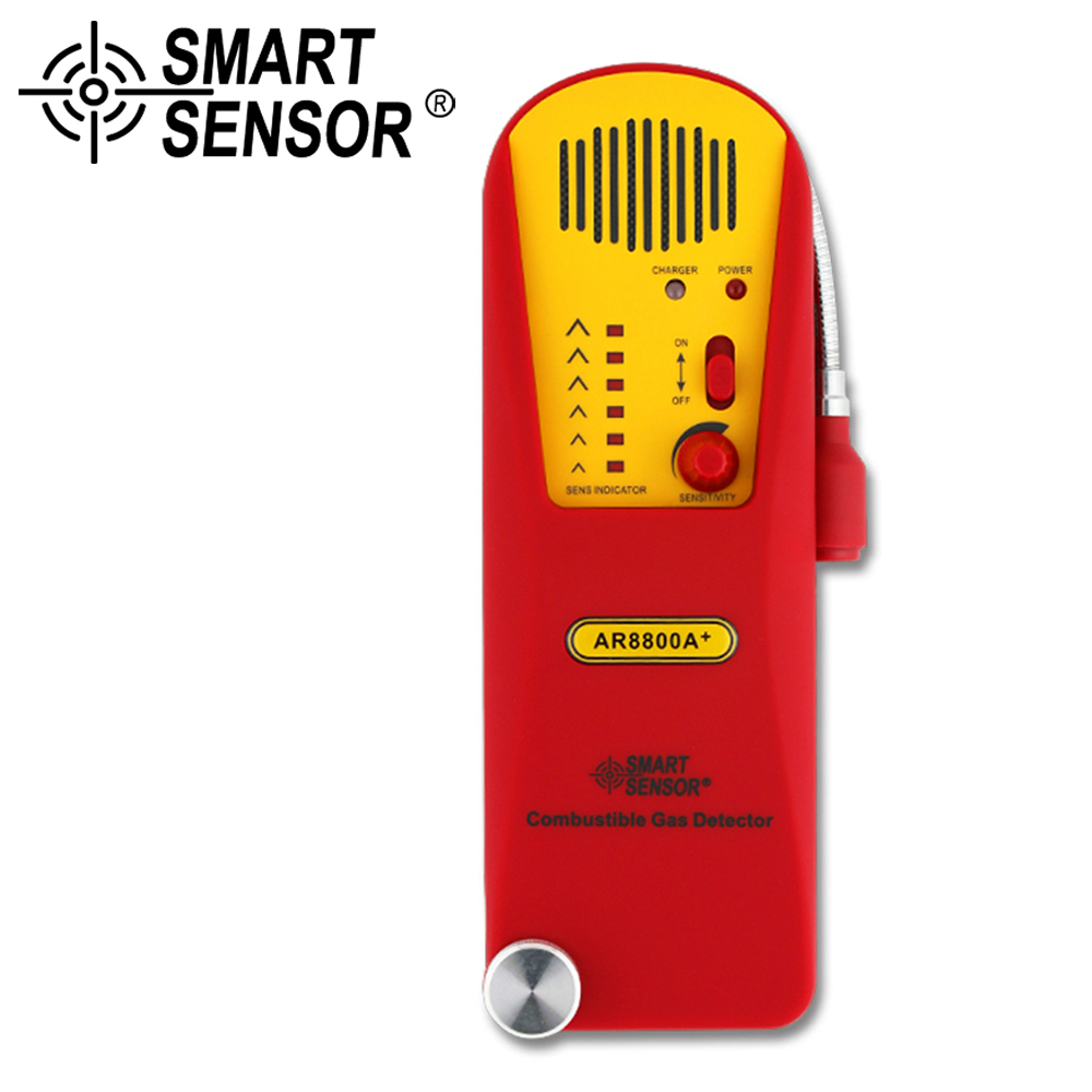 AR8800A+ Combustible Gas Leak detector tester Natural Gas Test Methane Gas Detector Coal Gas Detector + Lithium Battery