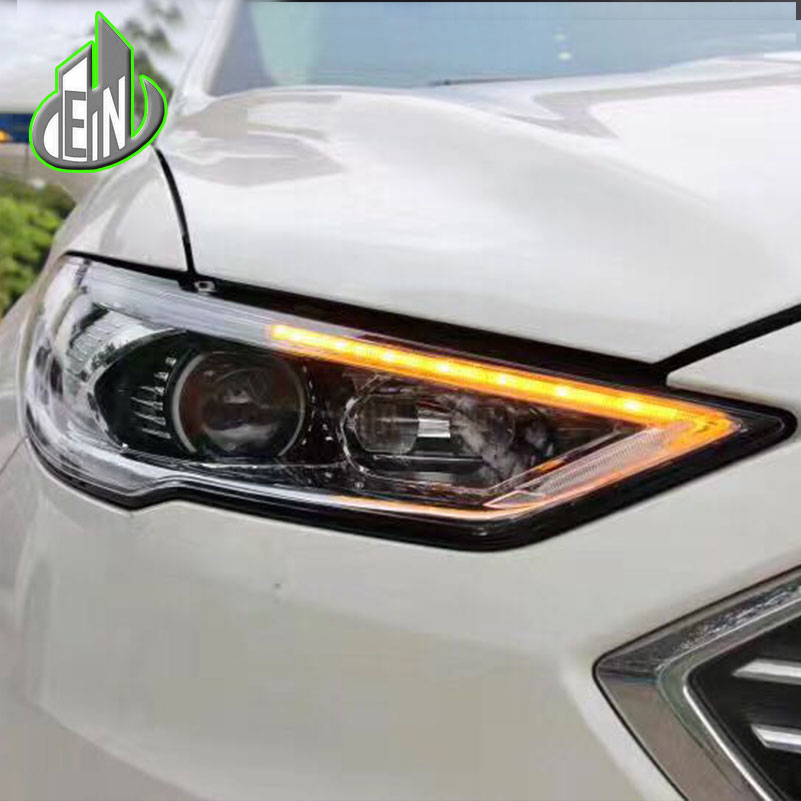 Car Styling For Ford Mondeo headlights 2017 head lamp led DRL front Bi-Xenon Lens Double Beam HID KIT car styling led head lamp for ford kuga led headlights 2014 taiwan escape angel eye drl h7 hid bi xenon lens low beam
