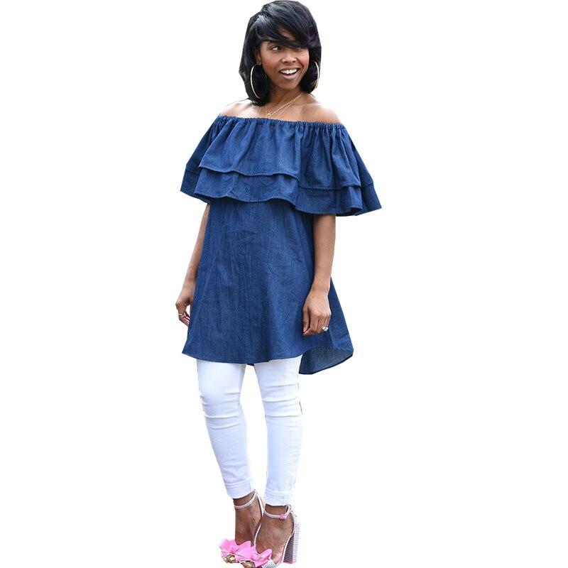 Online buy wholesale ruffled denim shirt from china for Buy denim shirts online