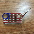 2017 New Style American flag Stainless Steel Grill Key Chain, Car Key KeyChain KeyRing for Jeep CJ JK, TJ, YJ XJ