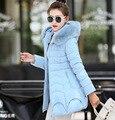 Mulheres Casacos de Inverno E Casacos de Venda 2016 Novas Meninas de Algodão Coreano Tamanho Grande Gola Com Capuz Espessamento Mianfu Jaqueta Mulher