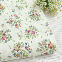 The New Cotton Fabric Cotton Twill Cloth White Flowers Diqi Pastoral Handmade DIY Bedding Linen Quilt