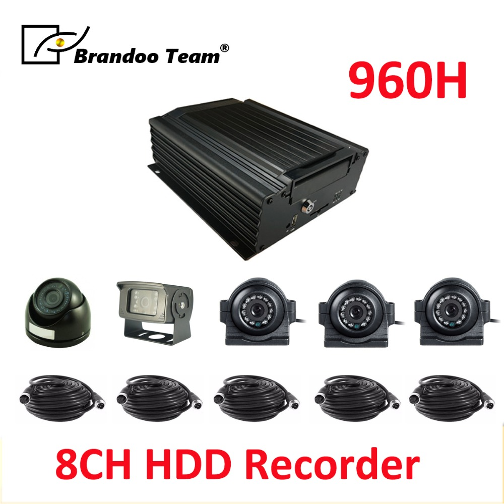 5 cameras DVR system,max support 2TB HDD memory,8CH hard disk MDVR 4G GPS remote monitoring