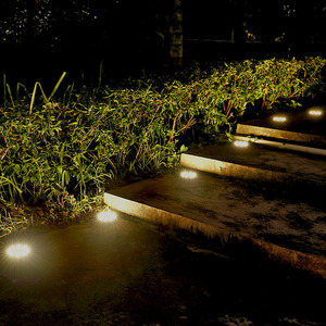 Image 5 - Anblub屋外8ledソーラー地面ledランプIP65防水風景芝生階段地下埋設家の庭の装飾