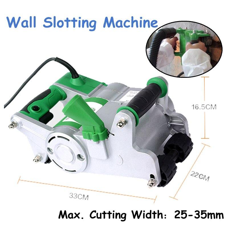 Machine industrielle de fente de mur de la Machine 35mm de coupe de mur de 1100 W pour l'installation de maison/Machine à sous pratique de ligne FL0932