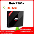 H96 pro plus 3 GB/32 GB Amlogic S912 H96 Pro + Octa Núcleo Android 6.0 2.4G/5 GHz Wifi 4 K BT 4.0 KDOI 16.0 smart tv android caixa
