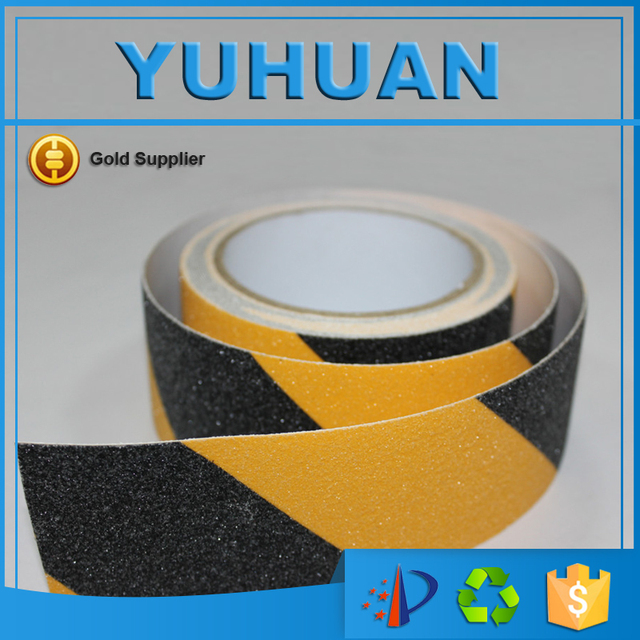 Self Adhesive Black Yellow Non Slip Tape Stair Tread High Traction Safety  Walking Tape